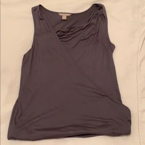 Banana Republic viscose drape front tank top